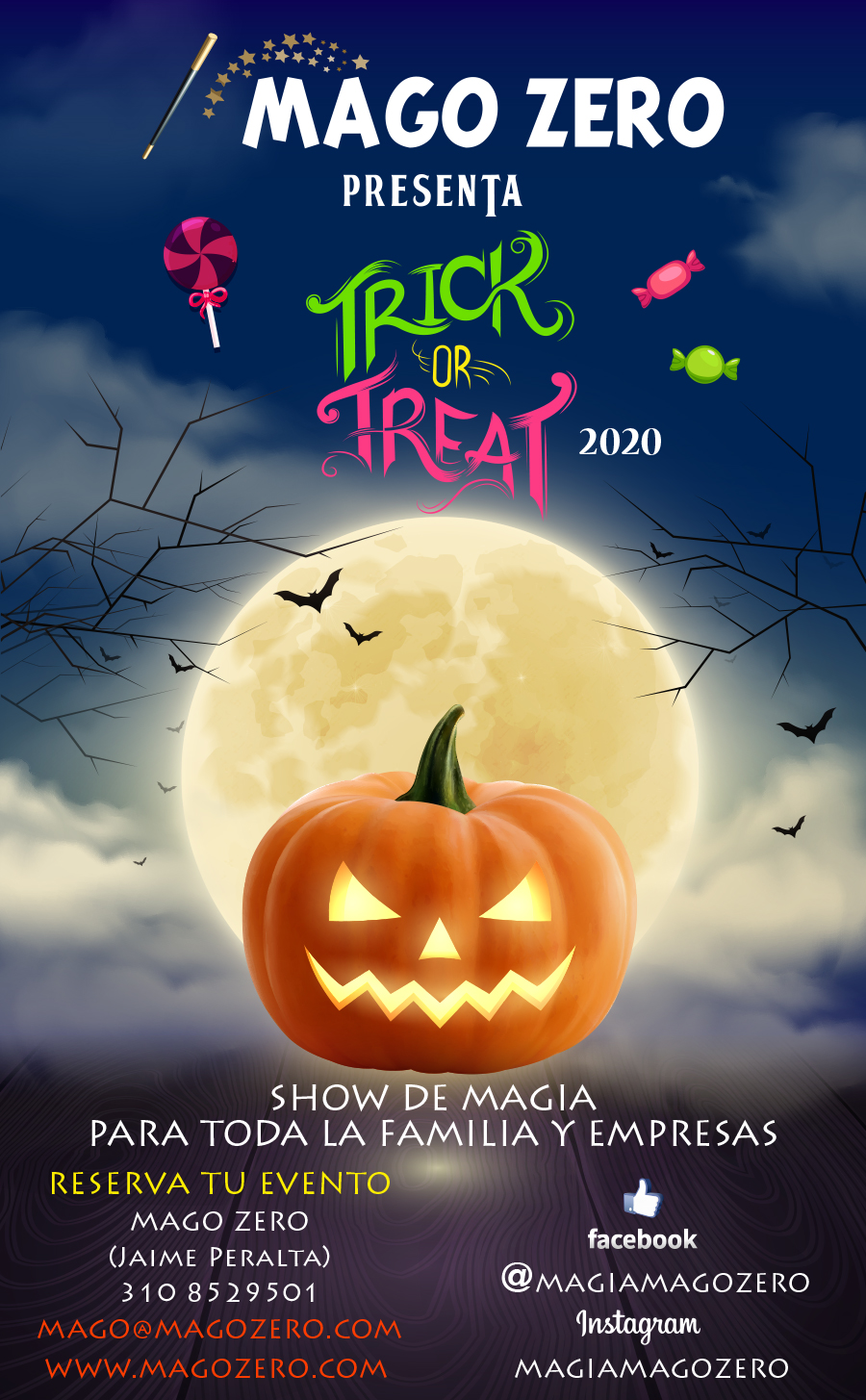 afiche trick or treat 2019